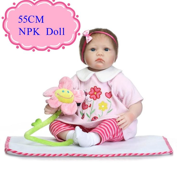 (77.00$)  Watch here - http://aih9e.worlditems.win/all/product.php?id=32801030253 - Short Hair About 55cm Bebe Silicone Doll 22inch Reborn Infant For Sale With Good Price Smart Choice Bonecas Bebe Reborn For Kids