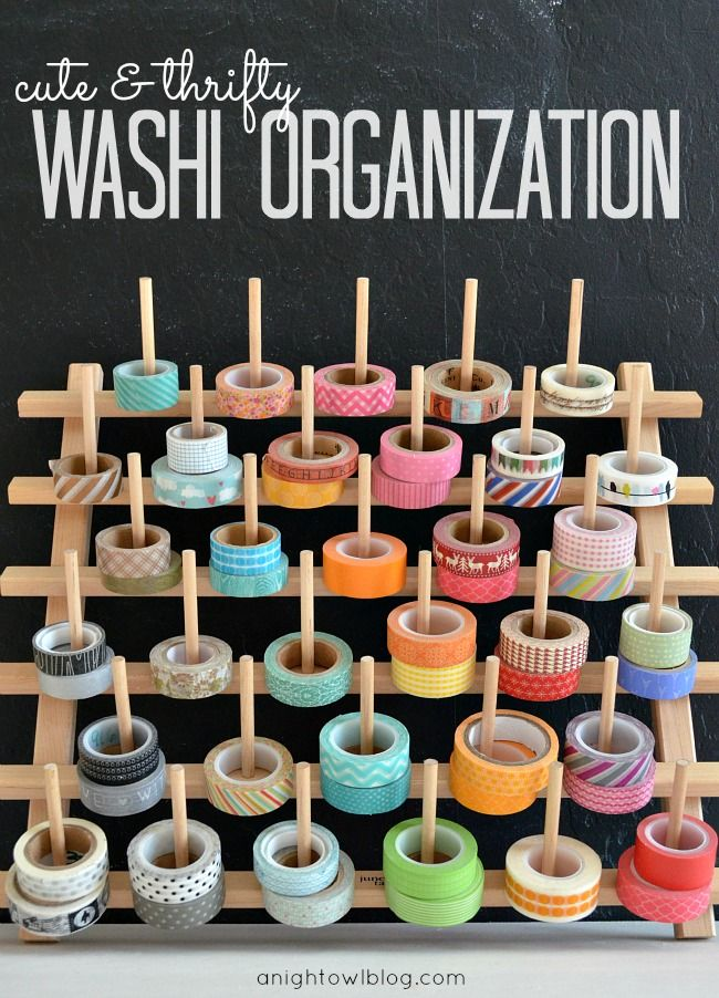 Washi Tape Storage Ideas. Lots of awesome ideas! And great use of