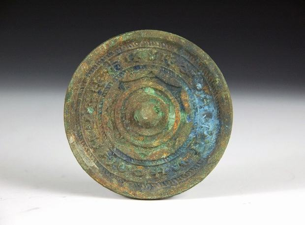 Bronze mirror, Han Dynasty.
