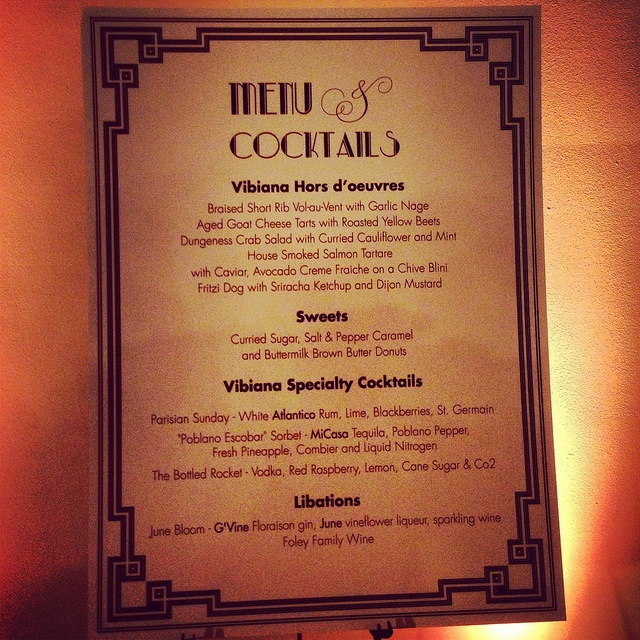Specialty cocktail offerings at Urban Unveiled's Great Gatsby Party