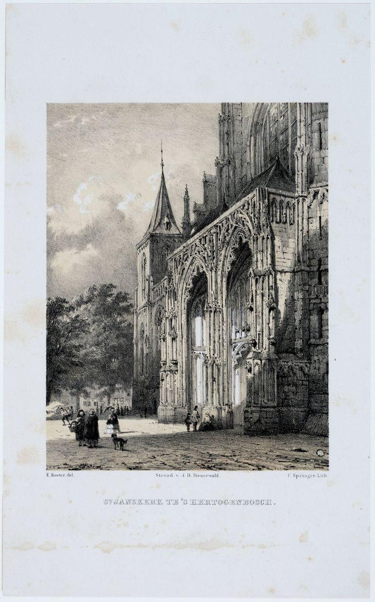 oude schets van de st Jan omstreeks de 19e eeuw