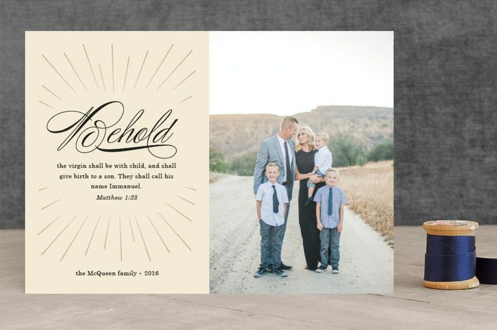 Behold Immanuel Christmas Photo Cards by Ann Gardner | Minted