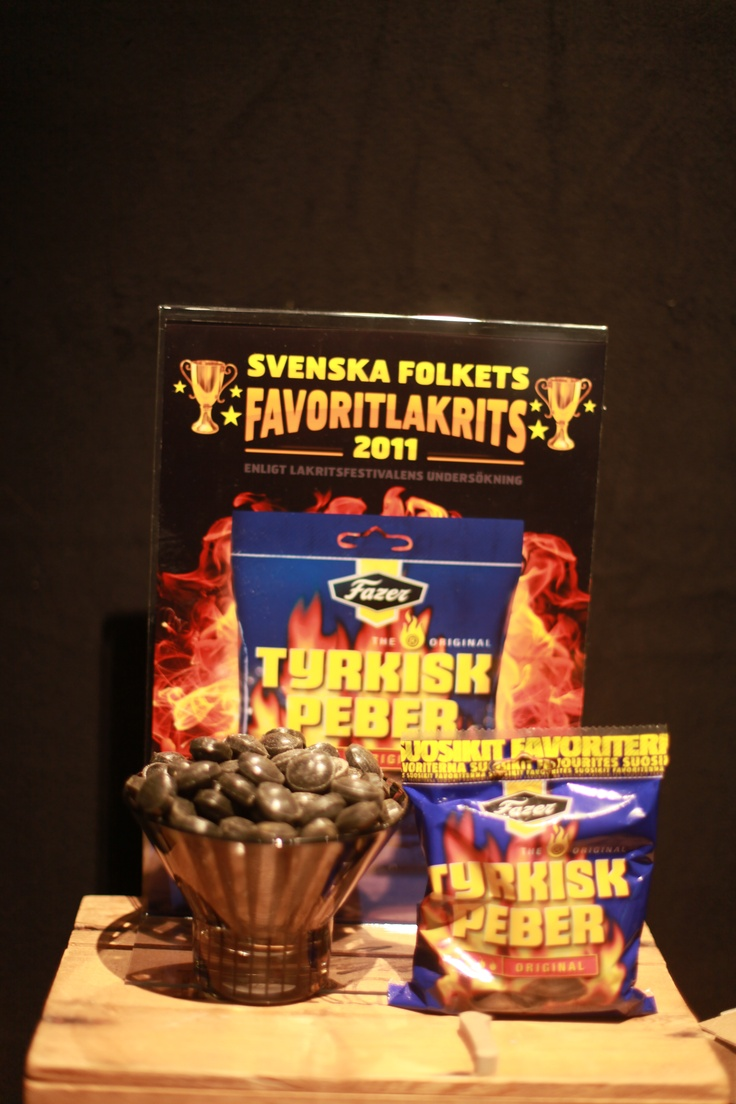 Svenska folkets favoritlakrits blev Tyrkisk Peber från Fazer. Foto: Frida Funemyr