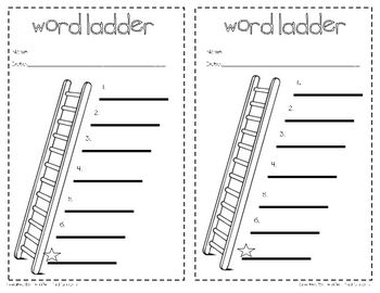 This is a simple 1/2 sheet word ladder recording page for use in small groups or independent learning centers.  There are six spaces for students t...