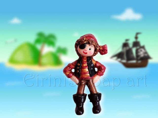 Pirate doll soap