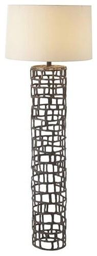 Arteriors Home Hansel Natural Iron Floor Lamp - contemporary - floor lamps - Bellacor
