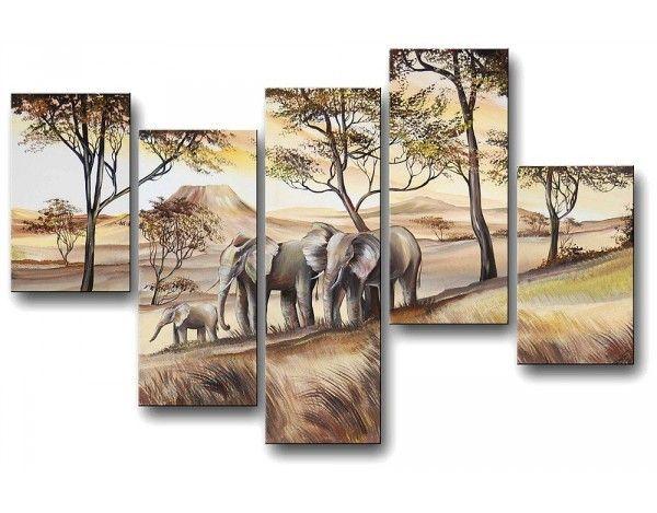 Igazi afrikai hangulatot teremthetsz otthonodban festett vászonképeinkkel.