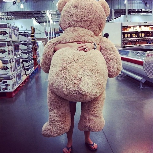 Every Girl Wants That HUGE Teddy Bear For Valentineu0027s Day, Just Sayin  Fellas | My Pins | Pinterest | Huge Teddy Bears And Girls