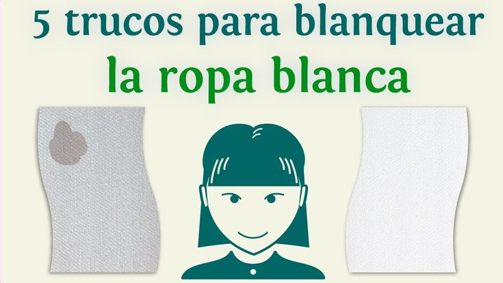 5 trucos para blanquear la ropa blanca
