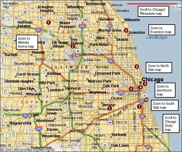 Illinois Chicago Evanston Glenview Illinoischicagomaps