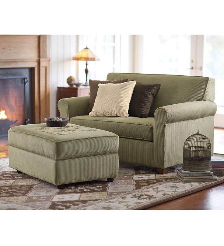 Plow and Hearth Twin Sleeper Chair-And-A-Half $800 Storage Ottoman $400 http://www.plowhearth.com/twin-sleeper-chair-and-a-half.htm