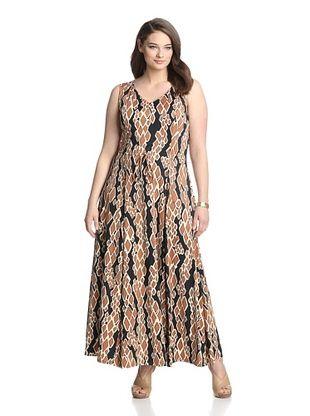 58% OFF JB by Julie Brown Pl Women's Jenni Maxi Dress (Python)