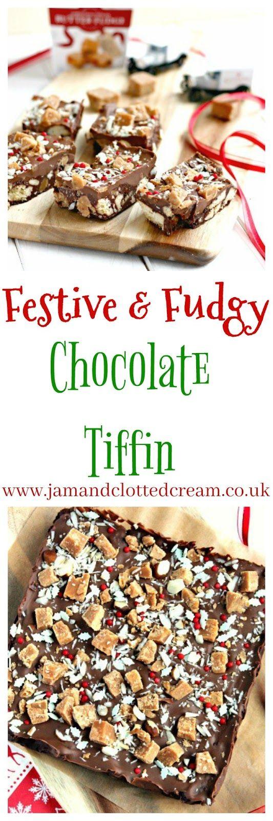Festive Fudgy Chocolate Tiffin