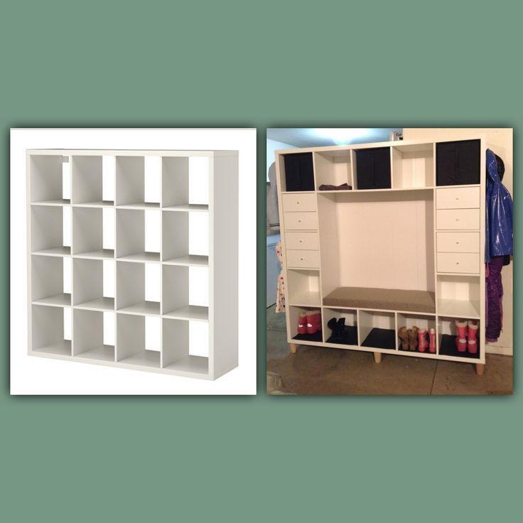 ikea hack kallax shelves to mudroom bench ikea hack kallax shelves to mudroom bench baby kindergarten ideen zum des perfekten ikea kallax regal dreckschleuse