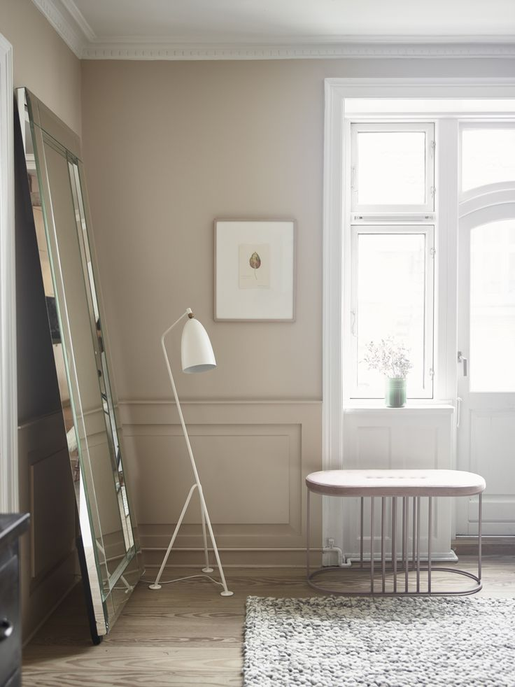 Beautiful apartment with good ideas for new colours on the walls.