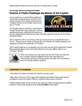 hunger games essay assignment Suggested essay topics and study questions for suzanne collinss the hunger  games perfect for students who have to write the hunger games essays.