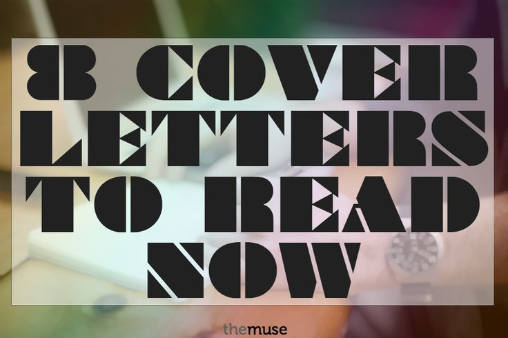 The 8 Cover Letters You Need to Read Now //