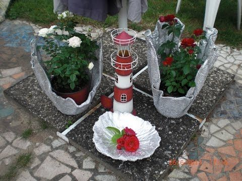 Beton giessen - Blumenkübel aus betongetränkten Tüchern / allgemeine Variante - YouTube