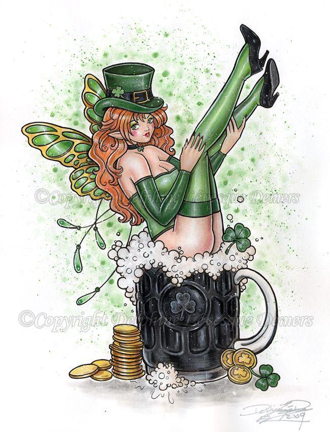 St patricks day sexy leprechaun girl