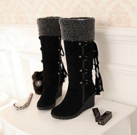 Damen warme neue Winterstiefel Ritter Stiefel Hang mit hohen Stiefeln Runde Schneeschuhe Schneestiefel boots In-Rohr-Schneeschuhe - http://on-line-kaufen.de/long-dream/40-eu-damen-warme-neue-winterstiefel-ritter-hang-2