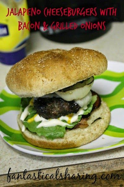 Jalapeno Cheeseburgers with Bacon and Grilled Onions | Flavorful ...