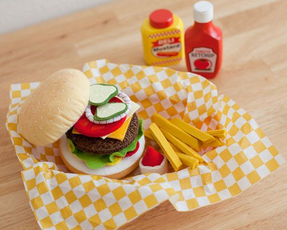 Felt Hamburger Grill Set