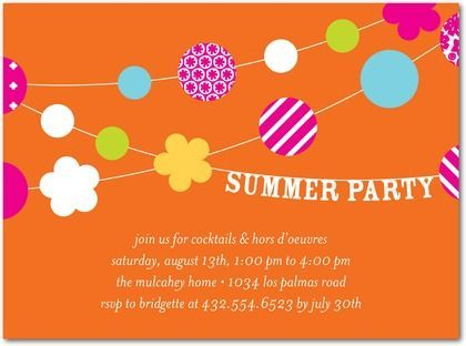 8 best invitation station images on pinterest | summer parties, Party invitations