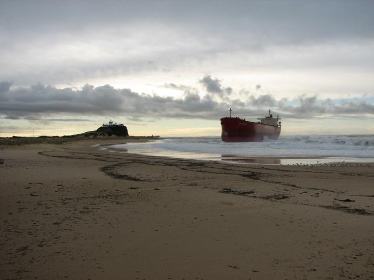 Pasha Bulker / Nobbys Lighthouse - Nobbys Beach, Newcastle NSW (photo taken by my sister)