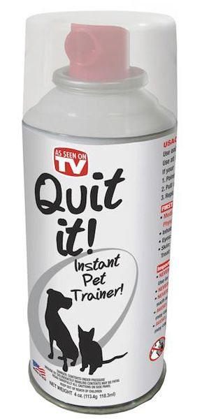 Stop unwanted behavior - Quit It! Instant Pet Trainer for Dogs & Cats