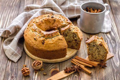 Κέικ με πορτοκάλι, κουβερτούρα και ξηρούς καρπούς (νηστίσιμο)