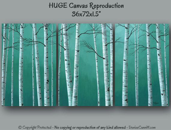 Huge Super Sized Canvas Art Prints For Your Teal Green Home Or Office Decor