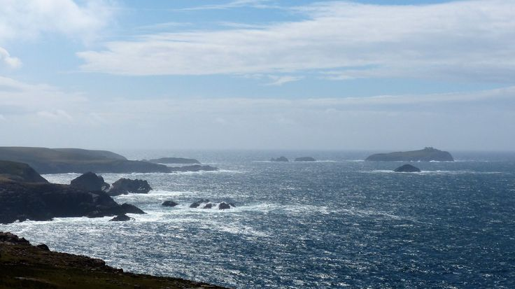 Co Mayo: Eagle Island from Erris Head.