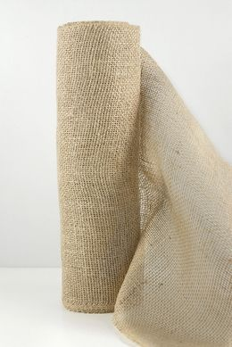"11.00 SALE PRICE! Our Natural Burlap Jute Roll measures 10 yards 30 feet x 14"" wide. One of Save On Craft's top selling items, the natural burlap jute..."