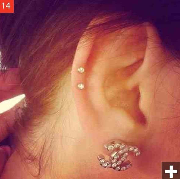 double auricle ear piercings