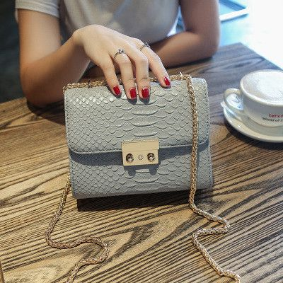 Simple Alligator Crocodile Leather Mini Women Crossbody bags Small Women Bag Messenger Shoulder Sling Purse Lady Handbag