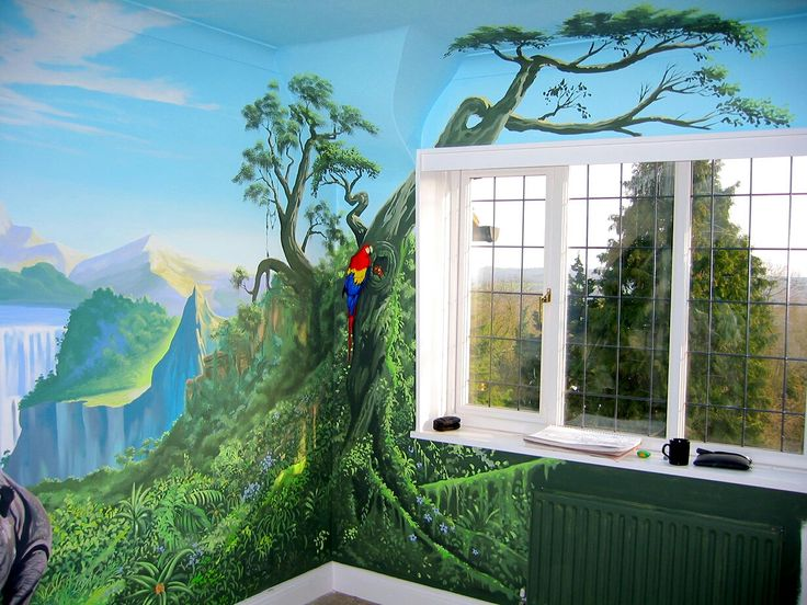 Jungle Wall Mural Showing The  Part 64