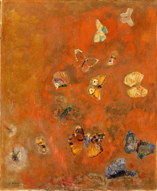 ODILON REDON - EVOCATION OF BUTTERFLIESArtists, Butterflies, Odilon Redon, Colors, Art Prints, Evocative, Canvas, Detroit Institution, Art Painting