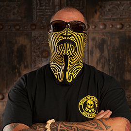 Bike mask - Inspired in Maori art. House of Natives