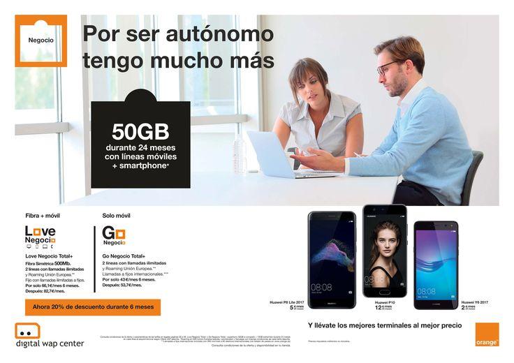 #NEGOCIO ¿Eres autónomo?  💼 vente a Orange y contrata nuestras tarifas ahora con 20% de descuento durante 6 meses #Fibra ⚡️ #Movil 📲