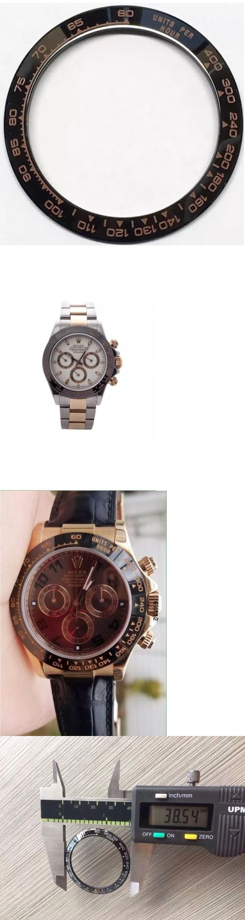 Bezels and Inserts 57714: Ceramic Bezel In Black With Rose Gold Engraved For Rolex Daytona 16520,16523 -> BUY IT NOW ONLY: $69.92 on eBay!