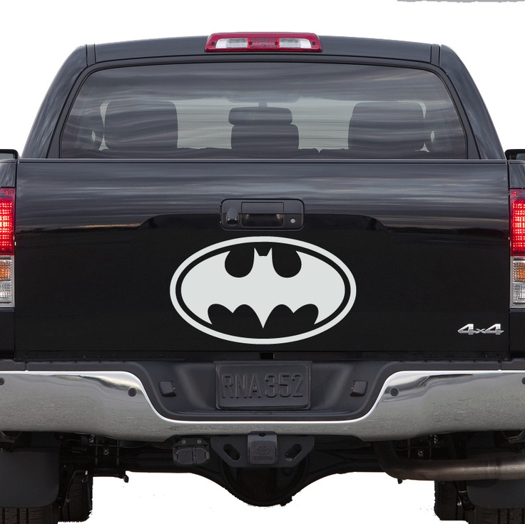 Vintage batman logo car decal