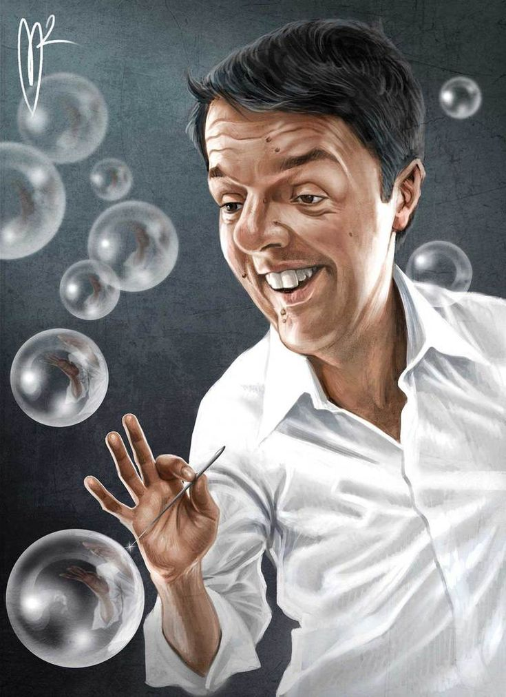 Matteo Renzi Caricature by Marzio Mariani. #Celebrity #Caricatures #Oddonkey