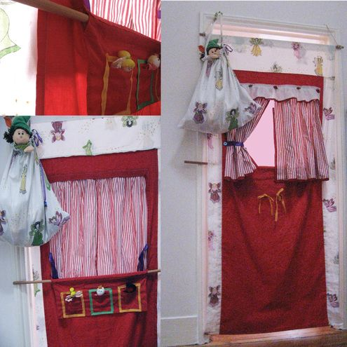 Puppet theatre, doorway theatre.  Christmas 2012
