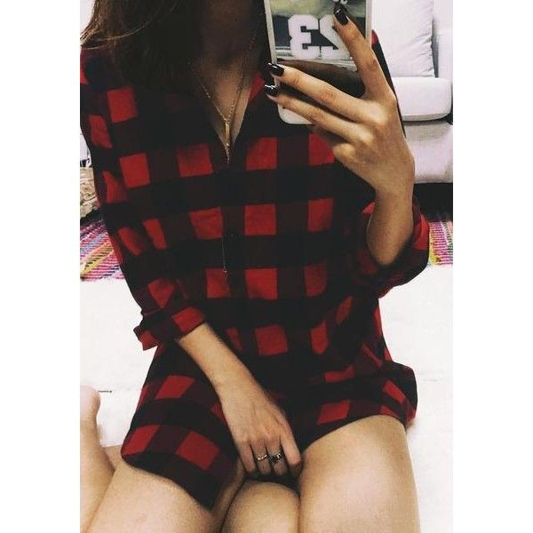 Plaid Flannel Tunic Shirt Lookbook Store ($19) ❤ liked on Polyvore featuring tops, tunics, plaid top, plaid shirt tunic, grunge flannel shirts, tartan top and grunge plaid shirt