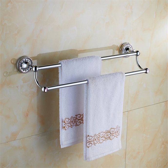 25 best ideas about bathroom towel bars on pinterest - Bathroom accessories towel racks ...