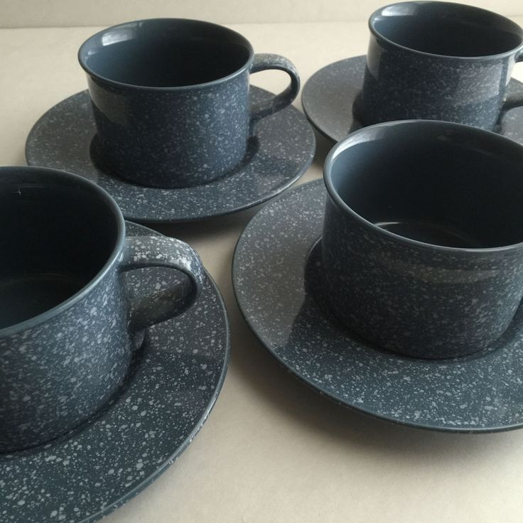 Mikasa Ultrastone-Country Blue Flat Cup u0026 Saucer Sets (4) Speckled Coffee CU501 & 84 best Dinnerware images on Pinterest | Dinnerware Dish and Dishes