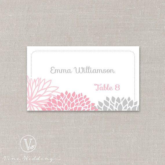 las 25 mejores ideas sobre printable wedding place cards en