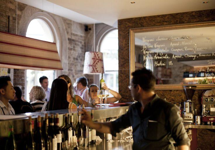 An old-school Italian-influenced wine bar