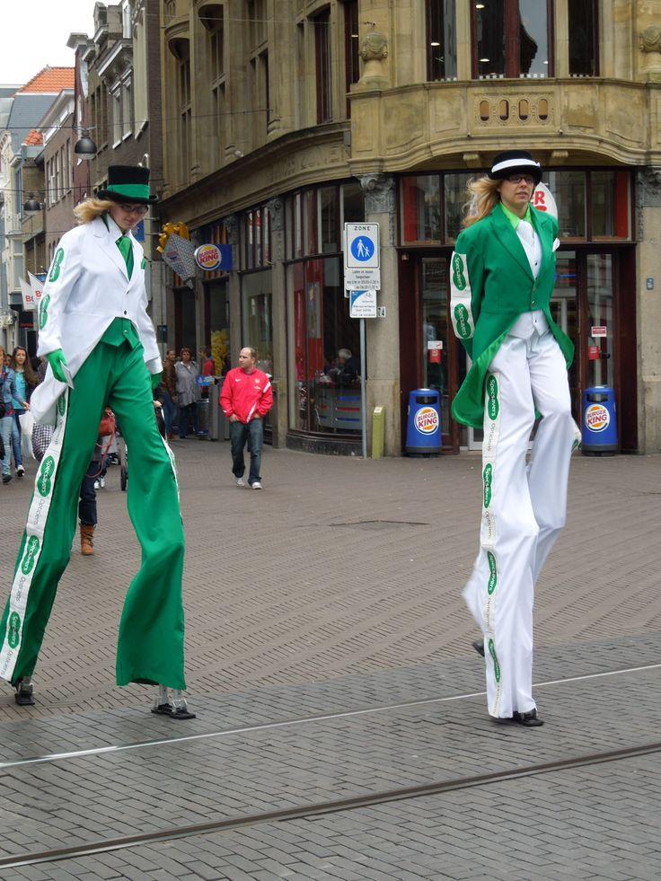 Dutch women on stilt, The Hague, The Netherlands