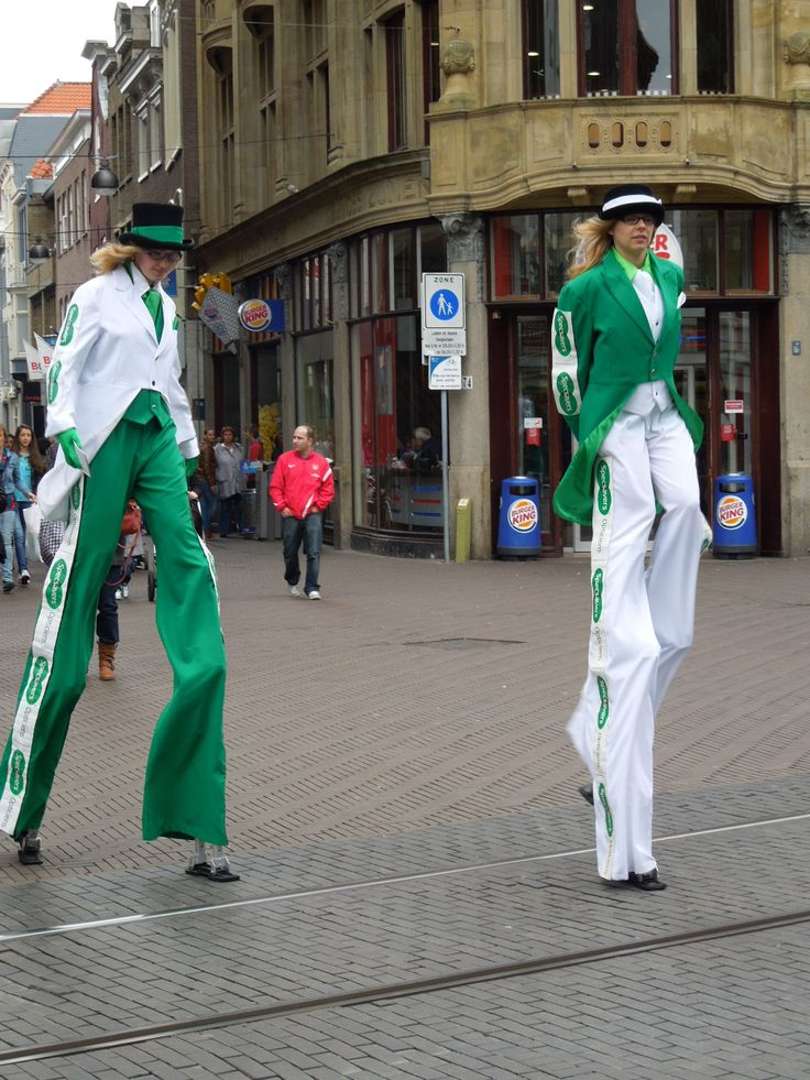 Dutch women on stilt, The Hague, The Netherlands